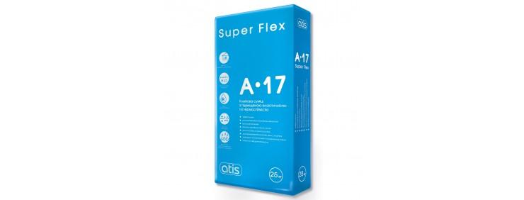 Клей для плитки Atis A-17 Super Flex 25кг