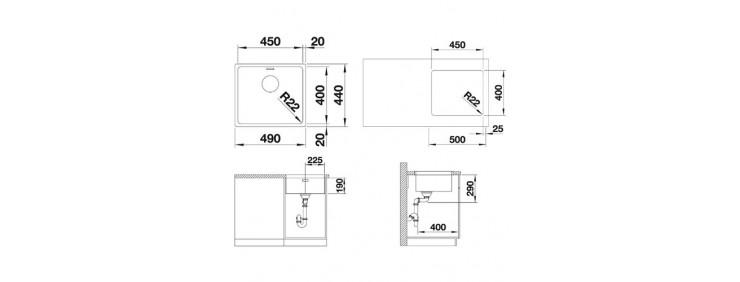 Кухонная мойка Blanco 522963