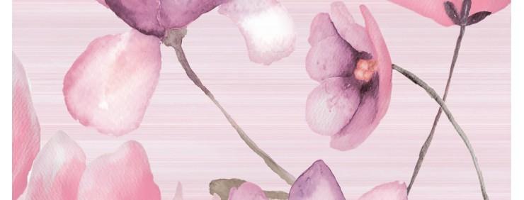 Декор Golden Tile Flora Pink 1В5321