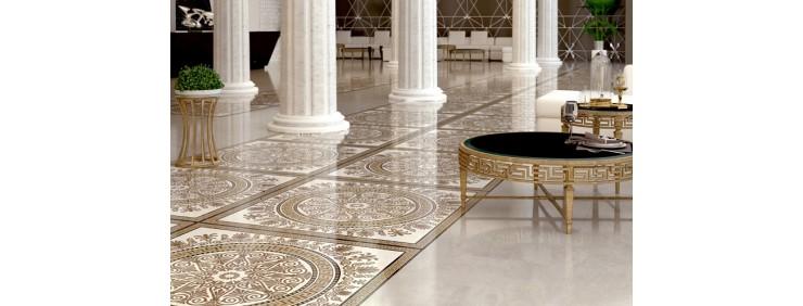 Декор Golden Tile Meander Rosette Beige 2А1810