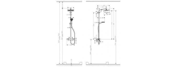 Душова система для ванни Hansgrohe Crometta 27271000