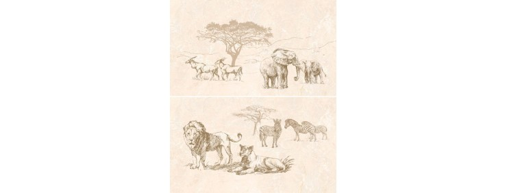 Панно Интеркерама Safari коричневый П 73 031