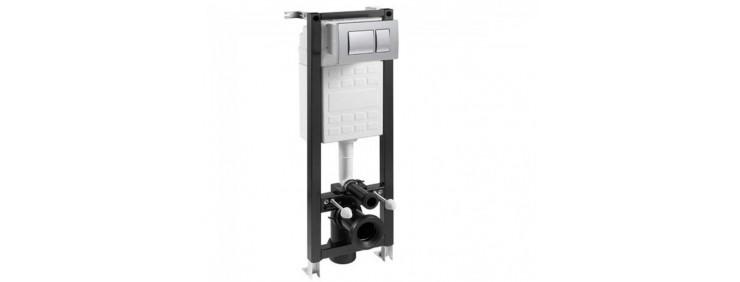Инсталляционная система для унитаза, с клавишей хром Jika WMR01000001K010